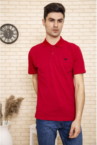 Поло мужское однотонное с коротким рукавом цвет Красный 119R001-1
