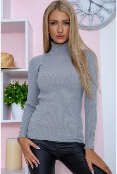 Гольф женский базовый  цвет серый 117R2050 67389