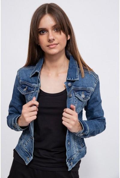 Джинсовая куртка женская 123R17209 цвет Синий