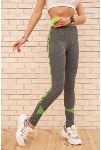 Лосины женские 129R829-11 цвет Серо-салатовый