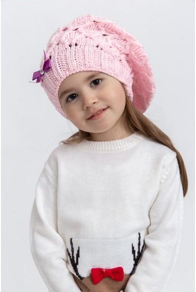 Шапка детская 126R006 цвет Розовый