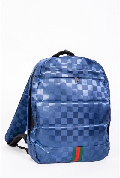 Рюкзак атласный с принтом цвет Синий 154R003-44-1 56983