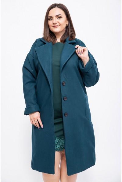 Пальто женское 153R623 цвет Темно-зеленый