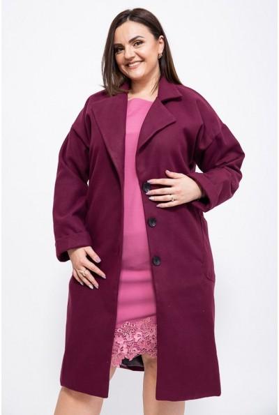Пальто женское 153R623 цвет Сливовый 39247