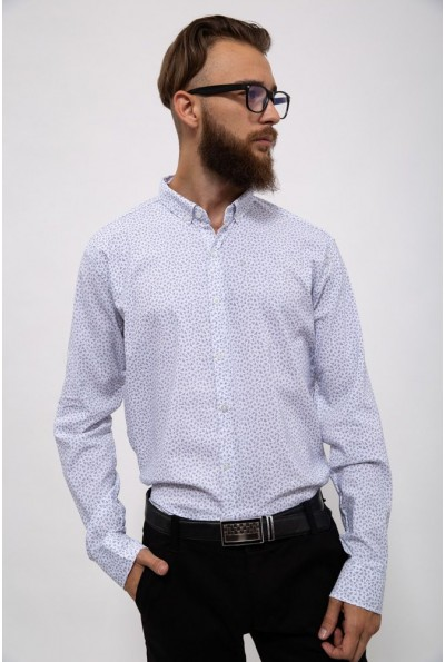 Белая мужская рубашка с принтом 511F015 3533