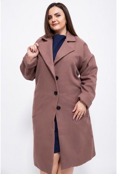 Пальто женское 153R623 цвет Темно-бежевый