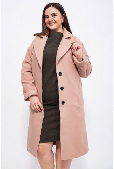 Пальто женское 153R623 цвет Бежевый