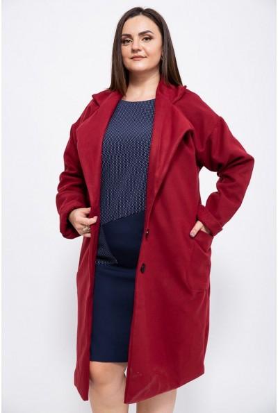 Пальто женское 153R623 цвет Бордовый