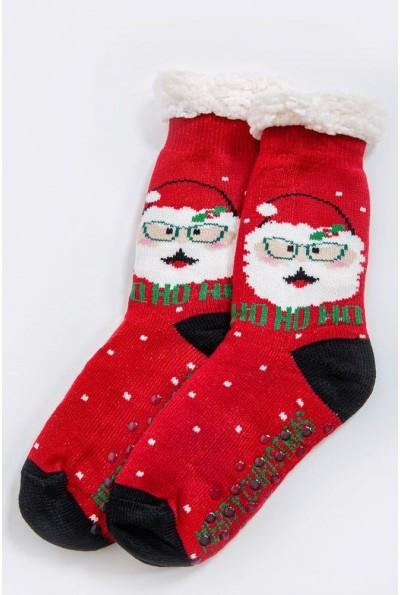 Носки-валенки  теплые, шерстяные 151R2035 цвет Красно-черный