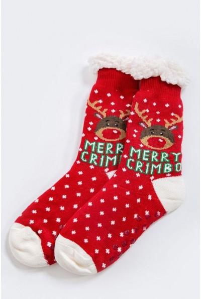 Носки-валенки  теплые, шерстяные 151R2035 цвет Красно-белый