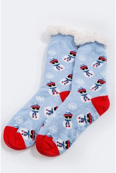Носки-валенки  теплые, шерстяные 151R2035 цвет Голубой