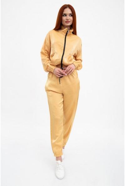 Спортивный костюм женский, горчичный из хлопка 103R2004
