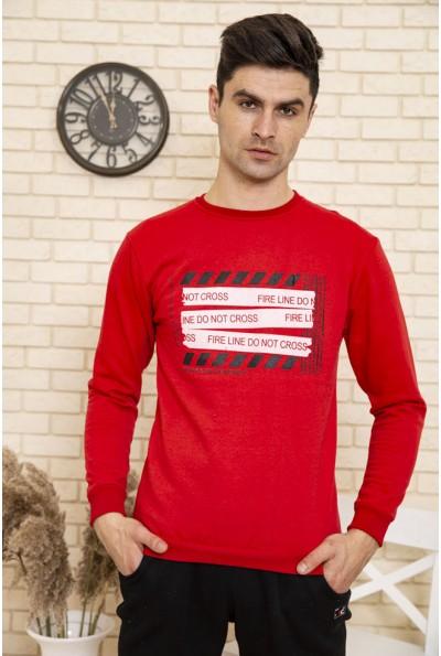 Свитшот мужской с принтом цвет Красный 114R003