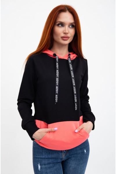 Худиженское, черно-розовое, с капюшоном и карманами 102R051