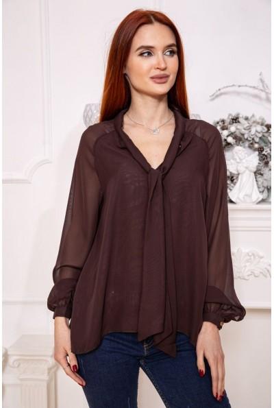 Блуза 115R249-3 цвет Коричневый