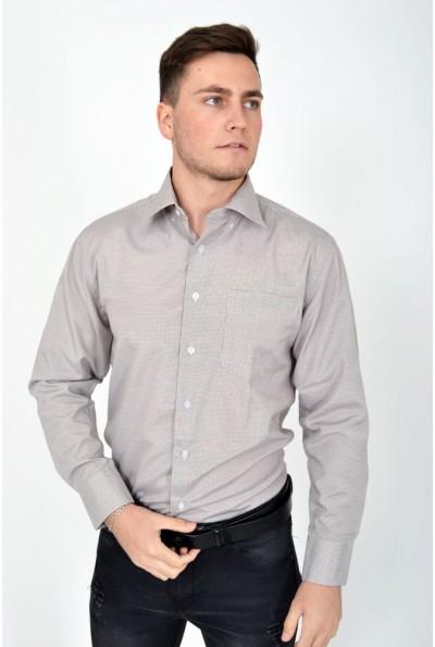 Рубашка коричневая с длинным рукавом 9021-28