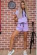 Купить Костюм женский укороченный худи и шорты цвет Сиреневый 102R054-2