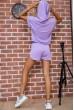 Костюм женский укороченный худи и шорты цвет Сиреневый 102R054-2 цена 1149.0000 грн