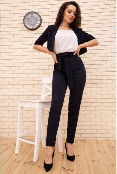 Женский костюм укороченный жакет и брюки цвет Чернильный 167R1826 56369