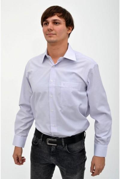 Рубашка в клетку сиреневая 113RPass007