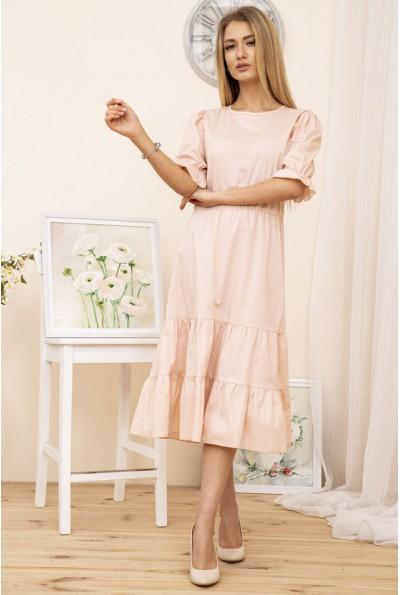 Платье приталенное миди летнее цвет Пудровый 115R412