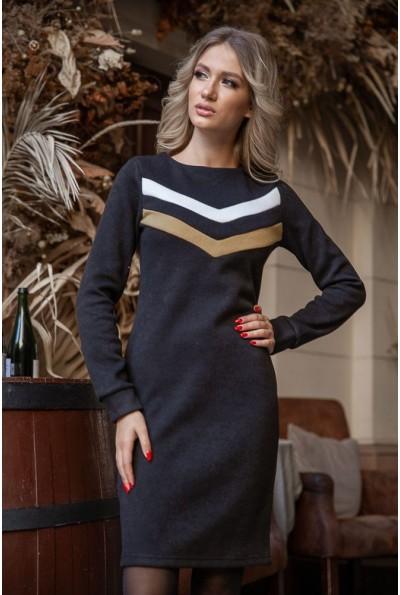 Платье 119R156 цвет Черно-горчичный