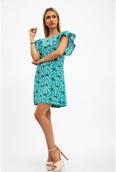 Платье женское, летнее, тонкое, хлопковое зеленое 115R291-2