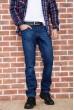 Купить Джинсы мужские  на флисе  цвет темно-синий 129R2099 67144