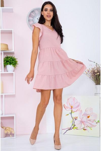 Платье женское в горошек  цвет пудровый 104R0026 67102