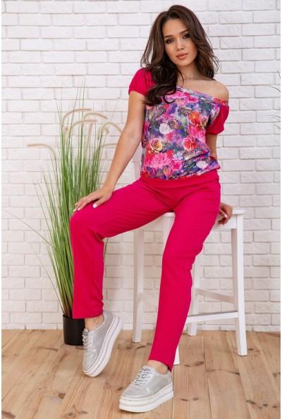 Костюм женский повседневный  цвет розовый 167R12-4 58118