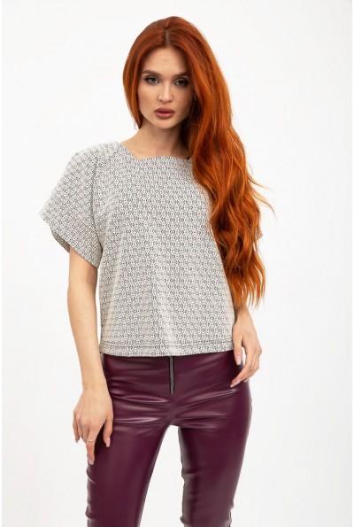 Блуза 131R1337 цвет Серо-черный
