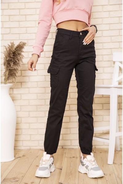 Женские брюки карго черного цвета 164R2020