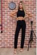 Женские прямые джинсы черного цвета 129R9762 недорого