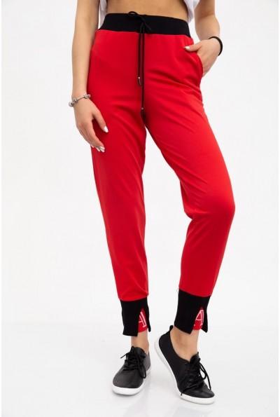 Брюки женские 119R543 цвет Красный