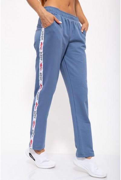 Спорт штаны женские 102R033-1 цвет Джинс