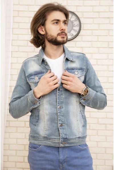 Джинсовая куртка унисекс  157R2014-1 цвет Голубой 53555