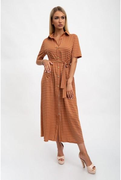Стильное, модное платье женское, коричневое 115R3731