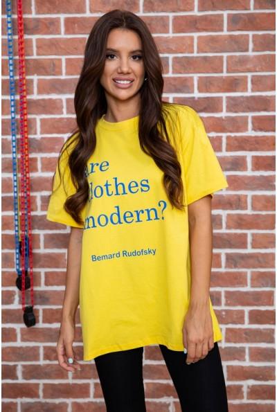 Футболка женская   цвет желтый 180R607 64009
