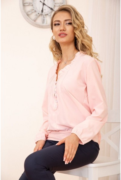 Свободная блузка с V-образным вырезом цвет Персиковый 172R027 55011
