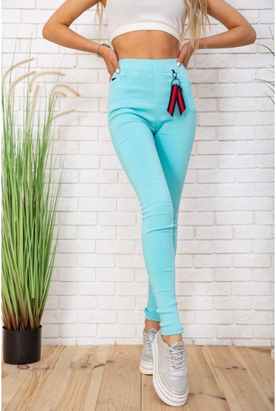 Женские леггинсы с карманами цвет Голубой 129R5233-6 57341