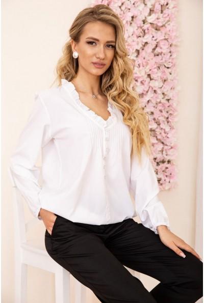 Свободная блузка с V-образным вырезом цвет Белый 172R027 55007