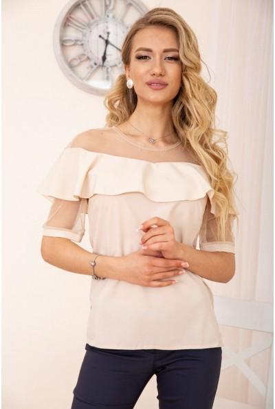Блуза женская 172R46-1 цвет Бежевый 55712