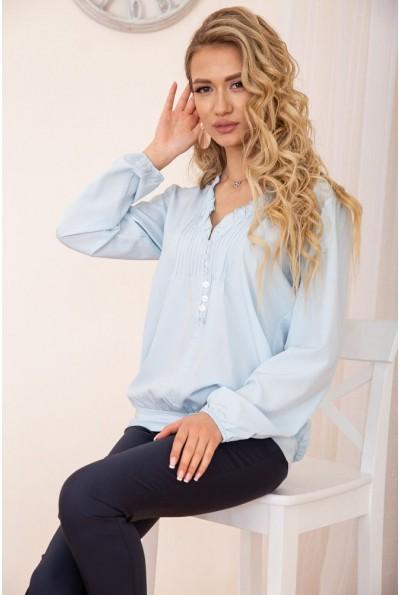 Свободная блузка с V-образным вырезом цвет Голубой 172R027 55009