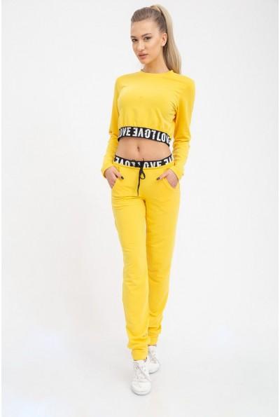 Желтый стильный костюм женский с резинкой 102R095
