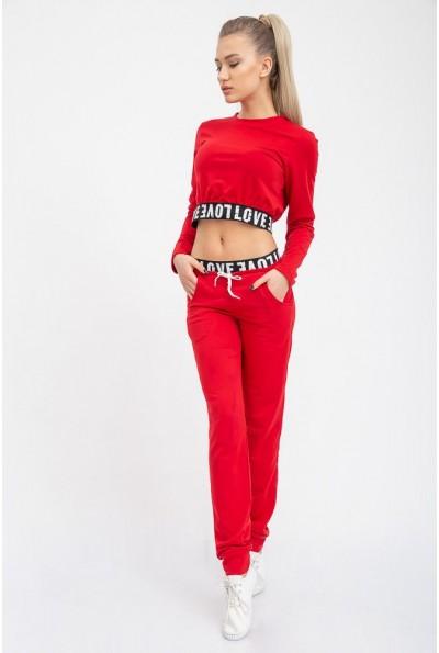 Стильный костюм женский с резинкой 102R095 Красный