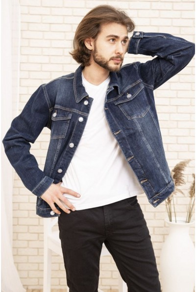 Джинсовая куртка мужская 157R4607 цвет Синий 53537