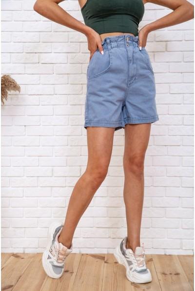 Джинсовые шорты женские  цвет голубой 129R3372 59837
