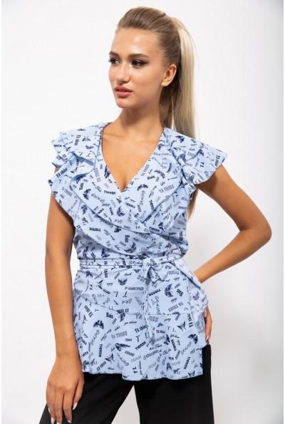 Блуза женская 115R328-3 цвет Голубой