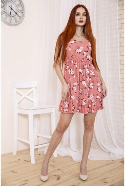 Легкий сарафан с цветочным принтом розового цвета 115R402-3 48327