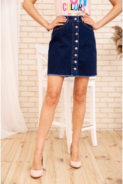 Джинсовая юбка 129R590-3 цвет Темно-синий
